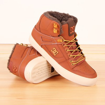 Buty zimowe DC Spartan High WC WNT - Burnt Henna/White