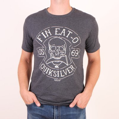 T-shirt Quiksilver Heather Tee Fin Eat O - Charcoal Heather