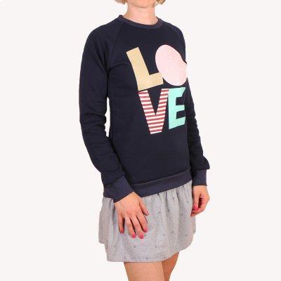 Bluza Femi Pleasure Love litery granat