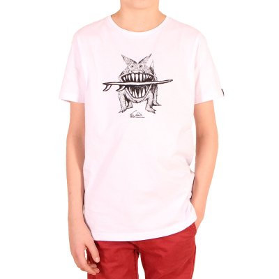 T-shirt Quiksilver PM Tee Youth Brun S Dogi - White