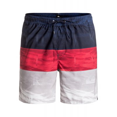 Boardshorty Quiksilver Word Waves Volley 17 - Quik Red