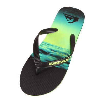 Japonki Quiksilver Molokai Hold Down - Black/Green/Green