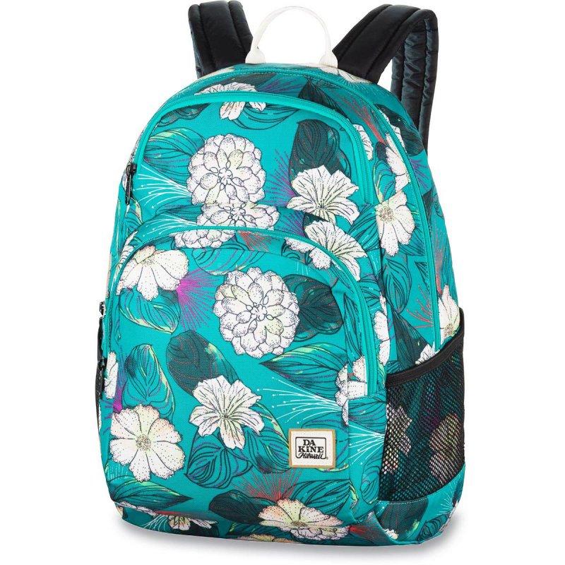 28b612229d294 Plecak damski do szkoły w kwiaty Dakine Hana Pualani Blue 26L