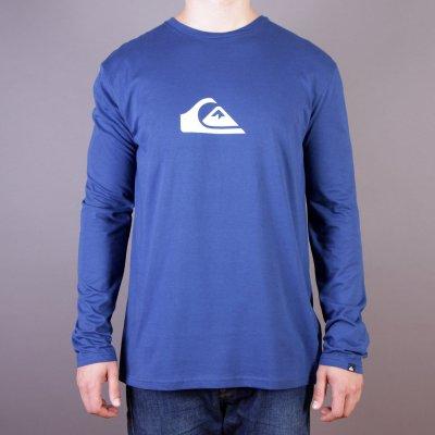 Longsleeve Quiksilver LS Logo Bright B1 - Estate Blue