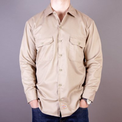 Koszula Dickies 574 Long Sleeve Work Shirt - Khaki