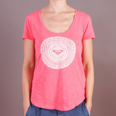 T-shirt Roxy Scoop Tee A - Calypso Coral