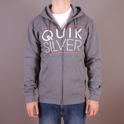 Bluza Quiksilver Hood Zip Good H4 - Medium Grey Heather