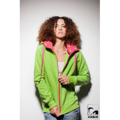 Bluza Evokaii Wake Zipper Hood - Green