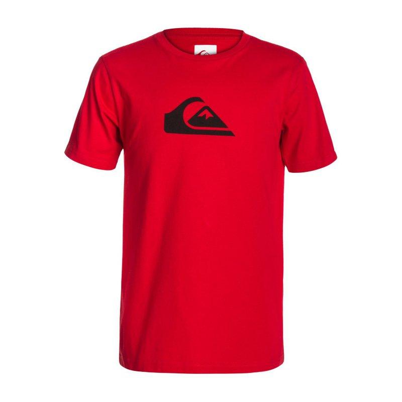 T-shirt Quiksilver SS Logo Bright Yth A5 - Red