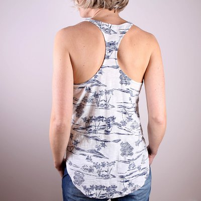 Koszulka Roxy Balboa - Warm White Island Print