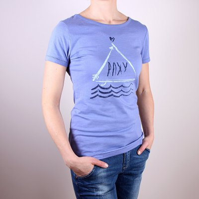 T-shirt Roxy Basic Crew E - Light Denim Heather