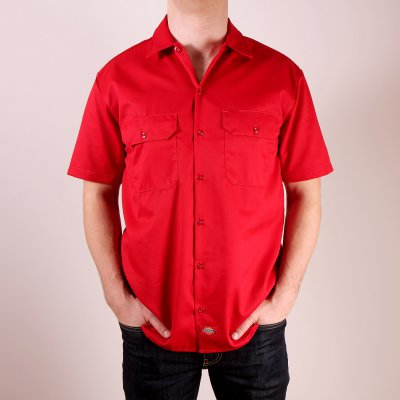 Koszula Dickies 1574 Short Sleeve Work Shirt - English Red