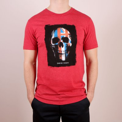 T-shirt Dakine Skull Flag - Red Heather