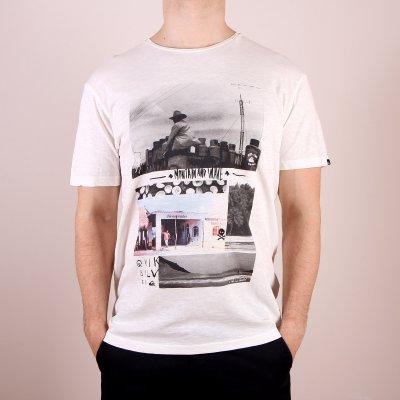 T-shirt Quiksilver Slub Tee Montage - Snow White