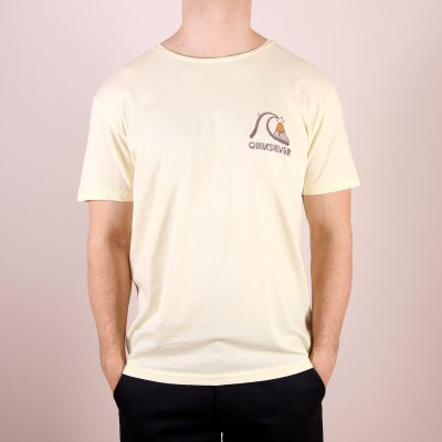 T-shirt Quiksilver Garment Dyed Tee The Original - Pastel Yellow