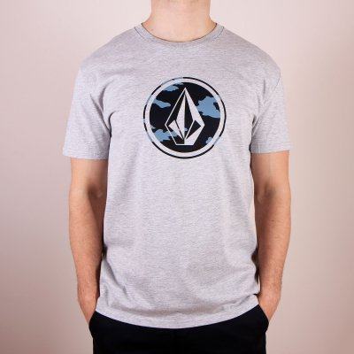 T-shirt Volcom Camo Stone Basic SS - Heather Grey