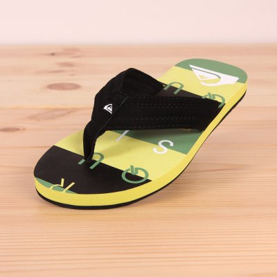 Japonki Quiksilver Basis - Black / Green / Green