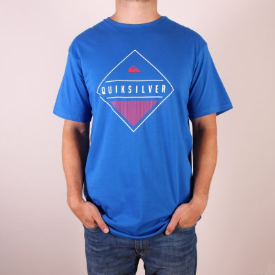 T-shirt Quiksilver Classic Tee Diamond Mine - Victoria Blue