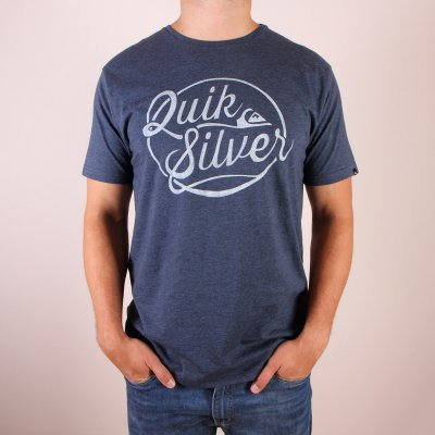 T-shirt Quiksilver Heather Tee Go Team Go - Dark Denim Heather