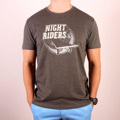 T-shirt Volcom Nightrider SS - Bark Brown