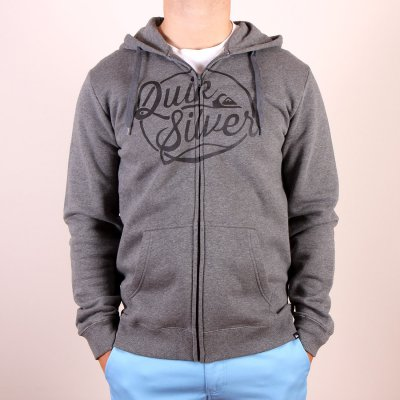Bluza Quiksilver Hood Zip Go Team - Medium Grey Heather