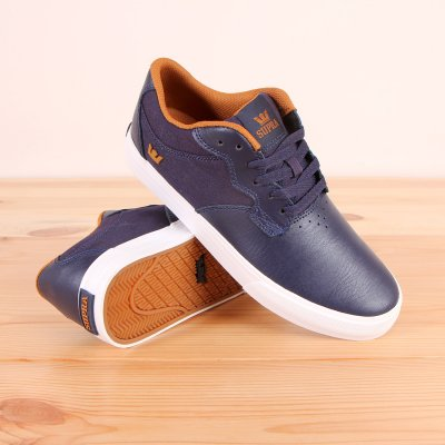 Buty Supra Axle - Navy/Cathay Spice - White