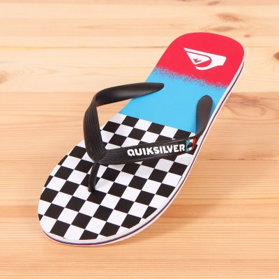 Japonki Quiksilver Molokai OG Scallop - Black /Blue /Red