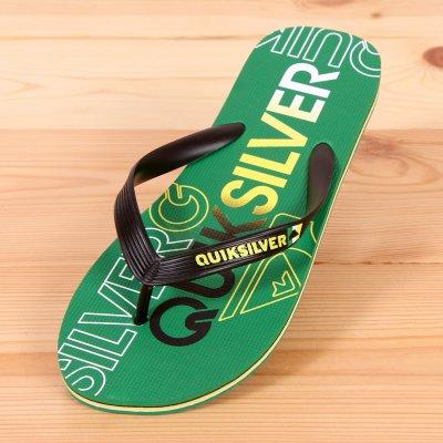 Japonki Quiksilver Molokai Nitro - Black / Green / Green