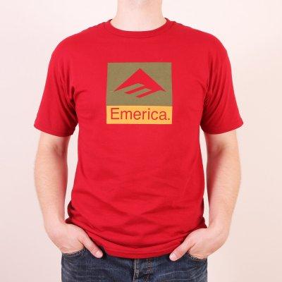 T-shirt Emerica Combo 10 Tee - Cardinal