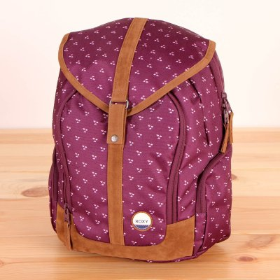 Plecak Roxy Ready To Win - Kimono Dots Combo Italian Plum