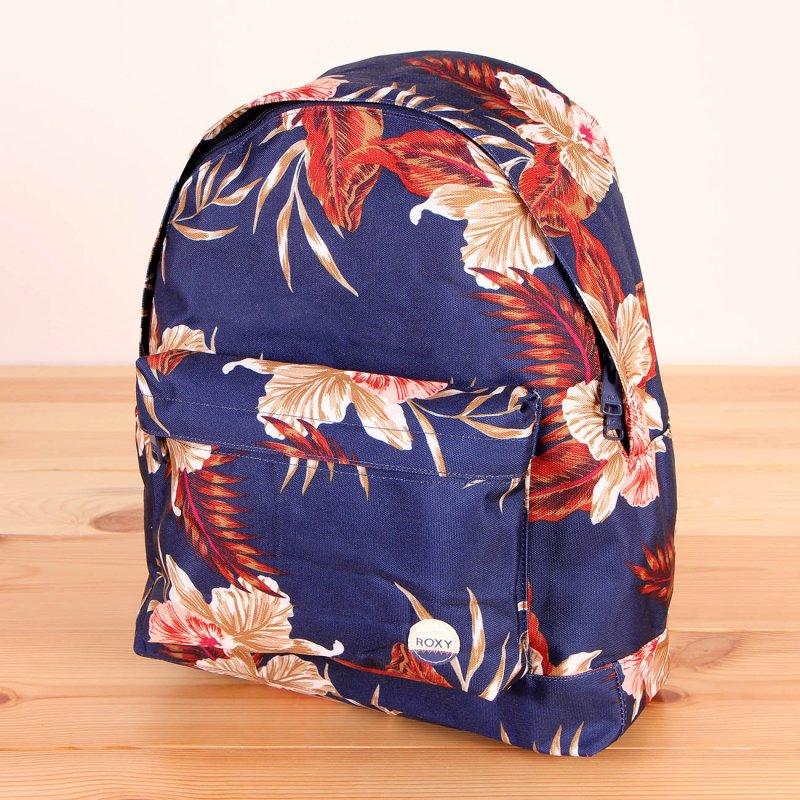 42c9a1ee0b2e9 Plecak szkolny damski Roxy Be Young Castaway Floral Blue Print w kwiaty