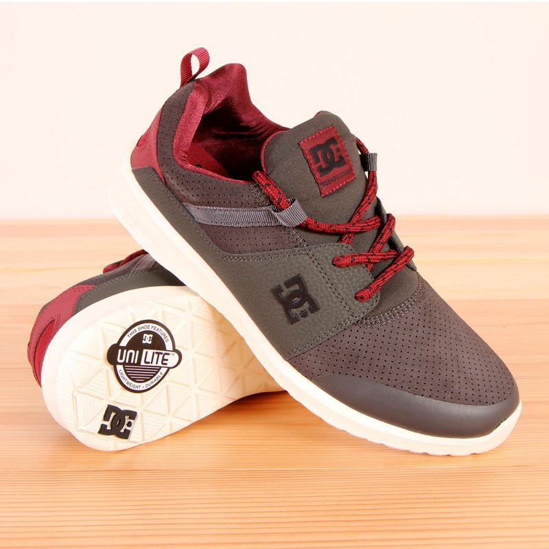 Buty DC Heathrow Prestige - Grey / Red