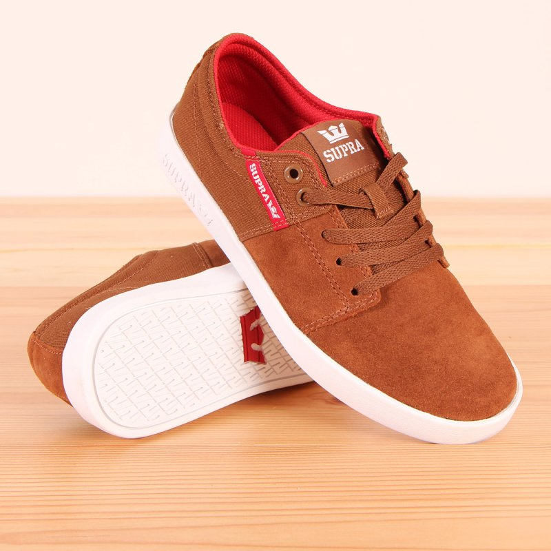 Buty Supra Stacks II - Brown/Red-White