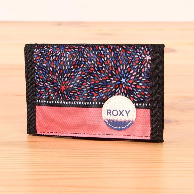1ee77c3e13c56 Kolorowy portfel damski zapinany na rzep Roxy Small Beach